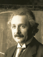 Albert Einstein, image is public domain